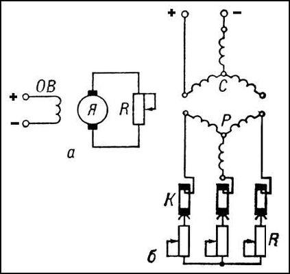 Электрические схемы включения
