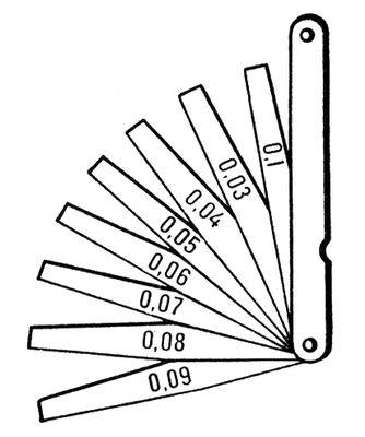 Щупы измерительные в обойме.  Щуп измери'тельный, калибр , применяемый для контроля...