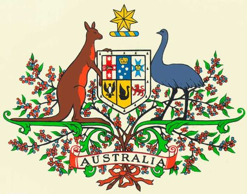 герб и флаг австралии