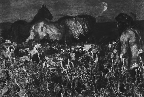 Врубель М. А. «К ночи» Иллюстрация