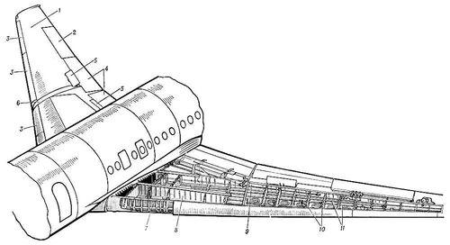Конструкция крыла самолёта