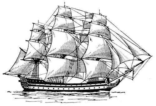 Рисунок 4. Корабль Фридерик, построенный в Балахне.