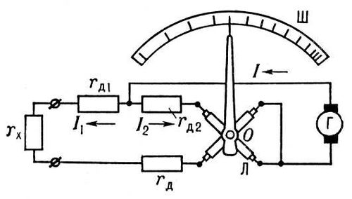 Мегомметр (схема)