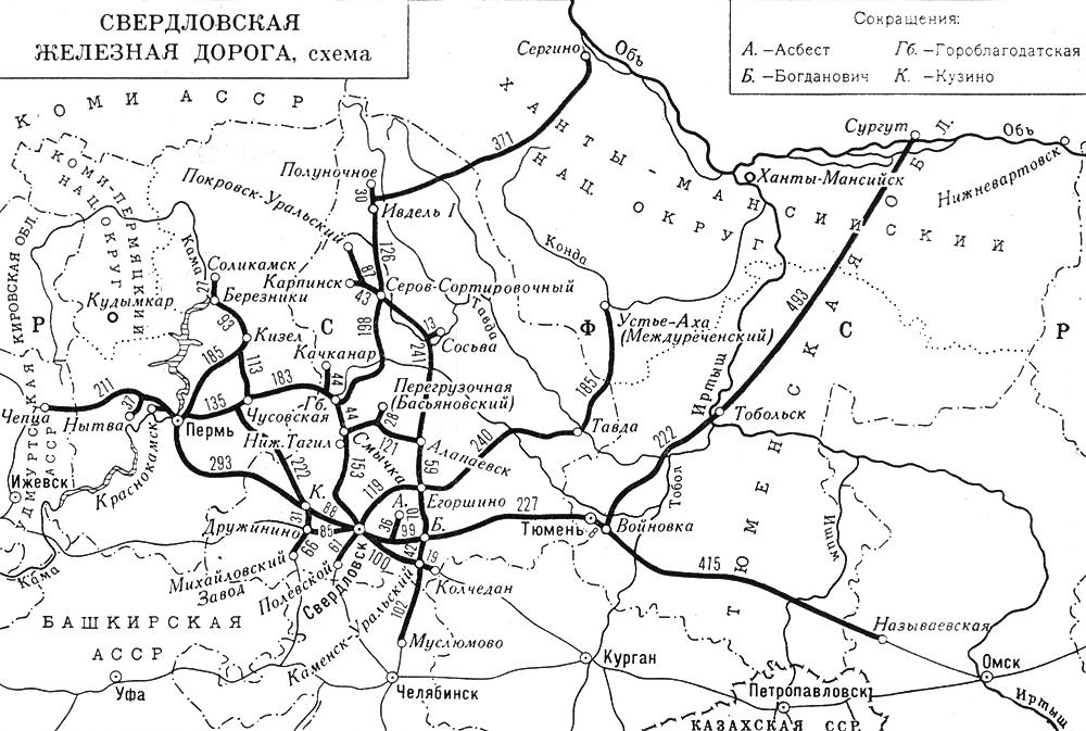 Свердловская железная дорога