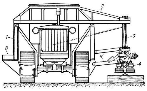 трактора (схема)