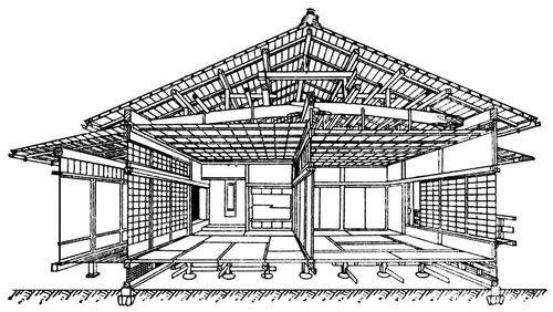 Японский жилой дом (схема